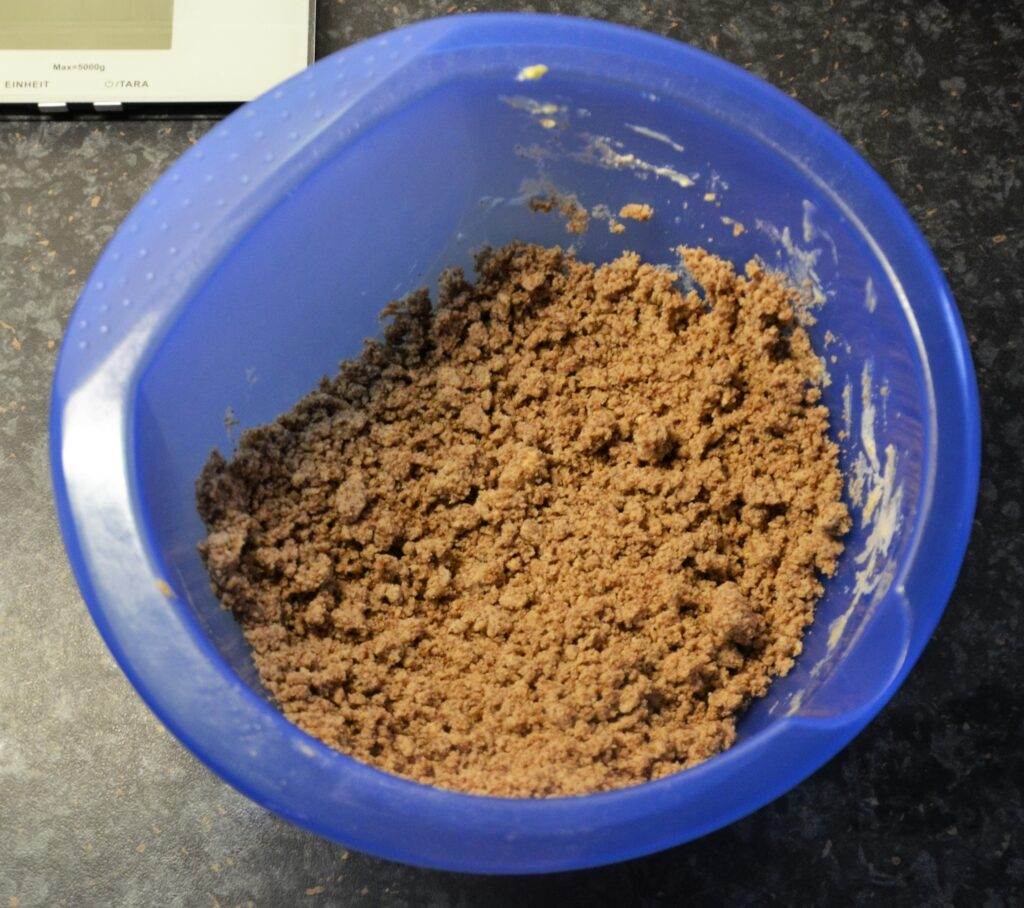 The dry ingredients, mixed in a bowl