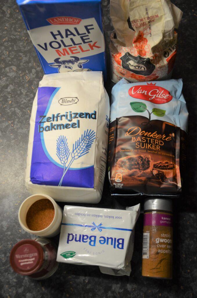 Ingredients for kruidnoten