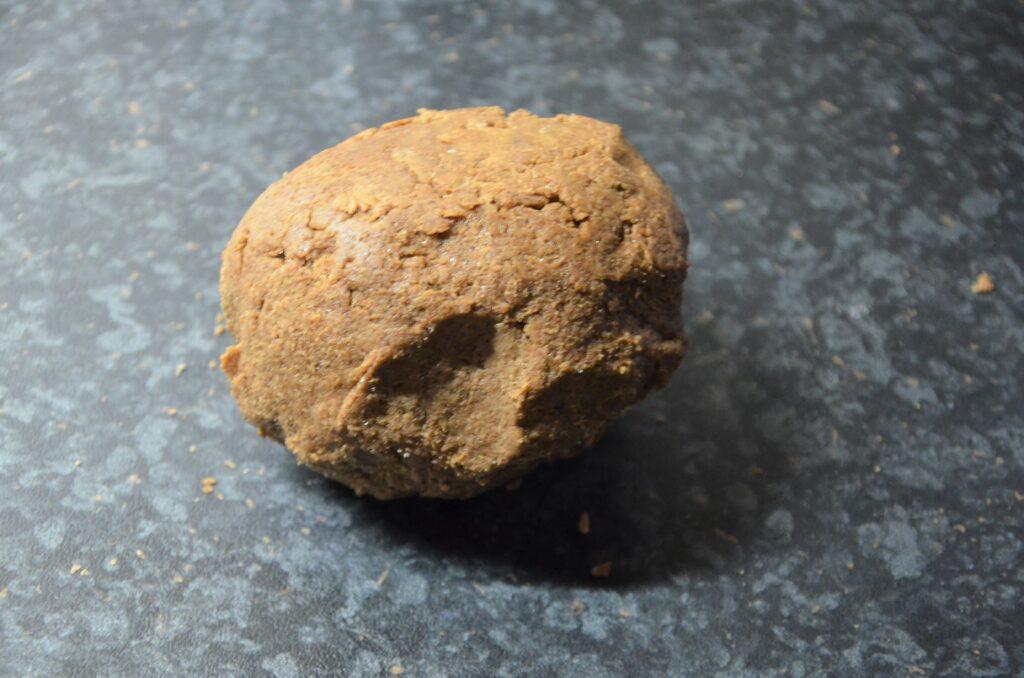 The Kruidnoten dough, formed into a ball