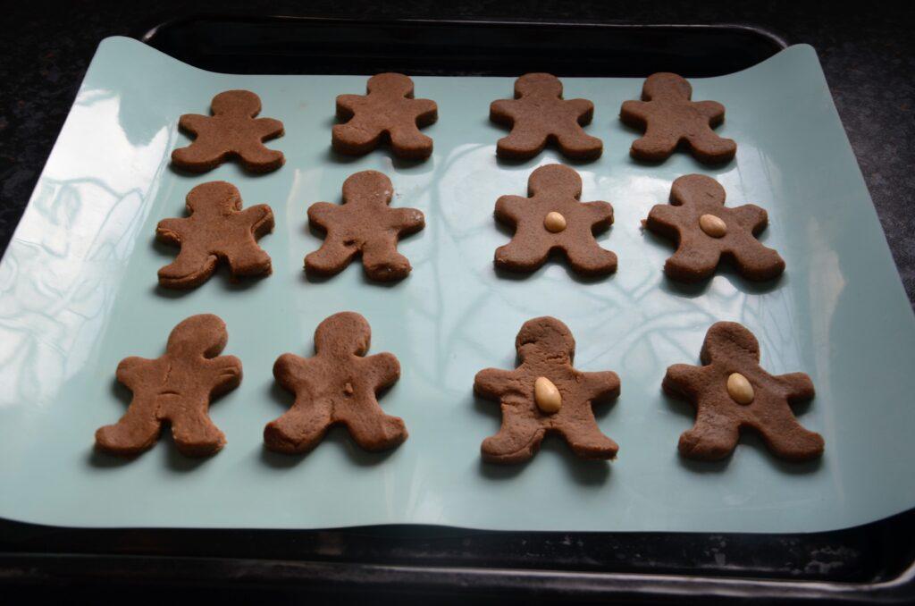 Gingerbreadmen before baking