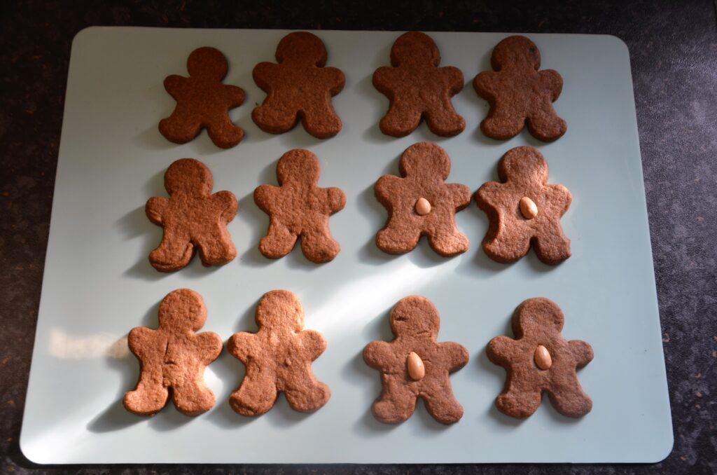 Gingerbreadmen, just baked