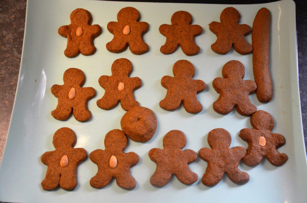 Speculaasmannetjes after baking