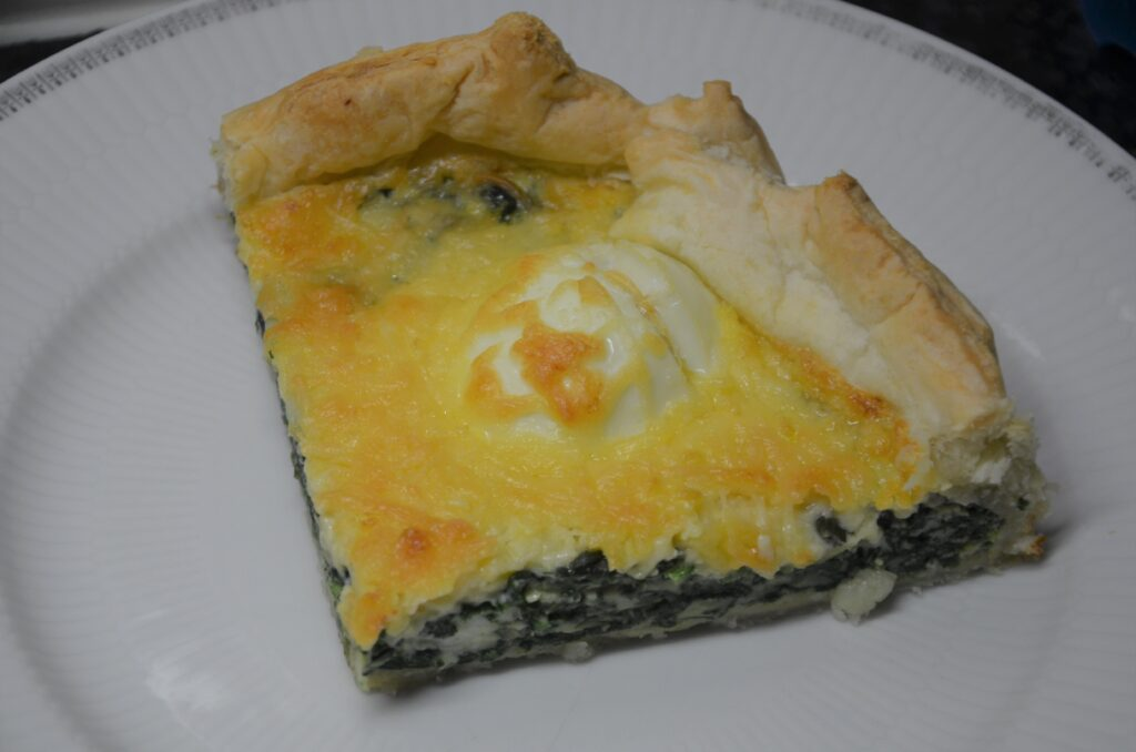 Piece of Spinach Pie, 1/4 of the pie