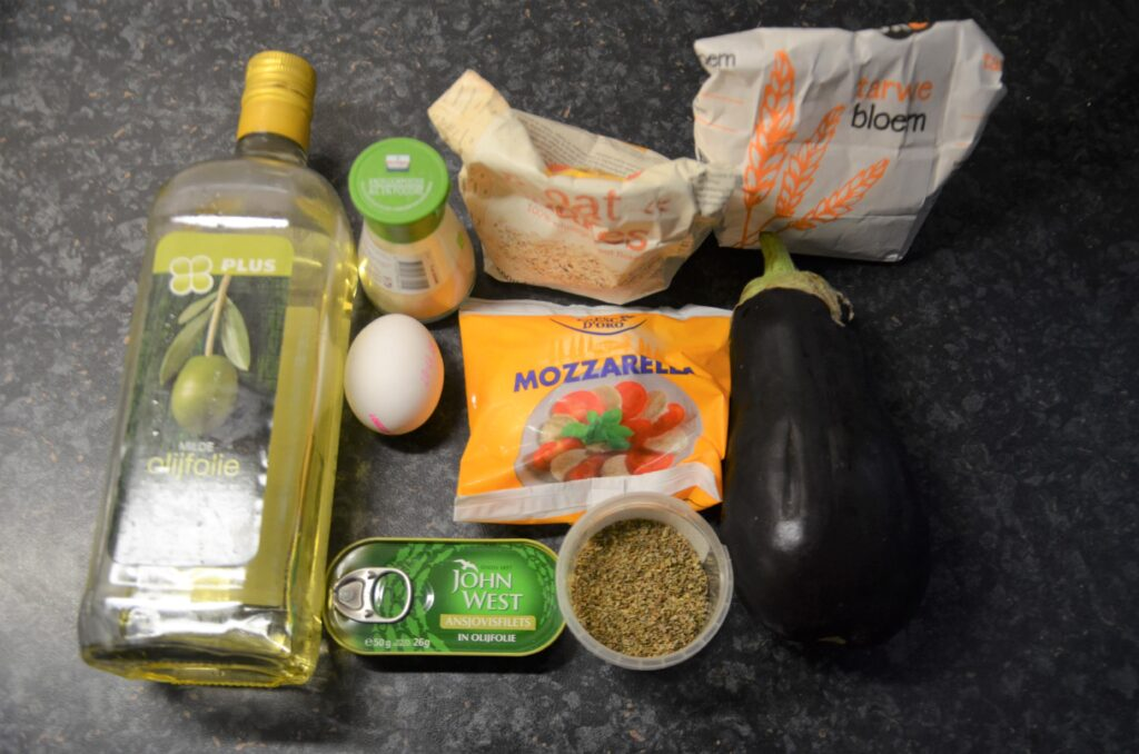 Ingredients layed out on the kitchen counter