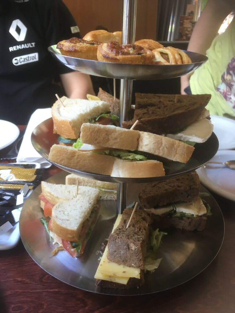 Mother's Day High Tea, a tray with sandwiches