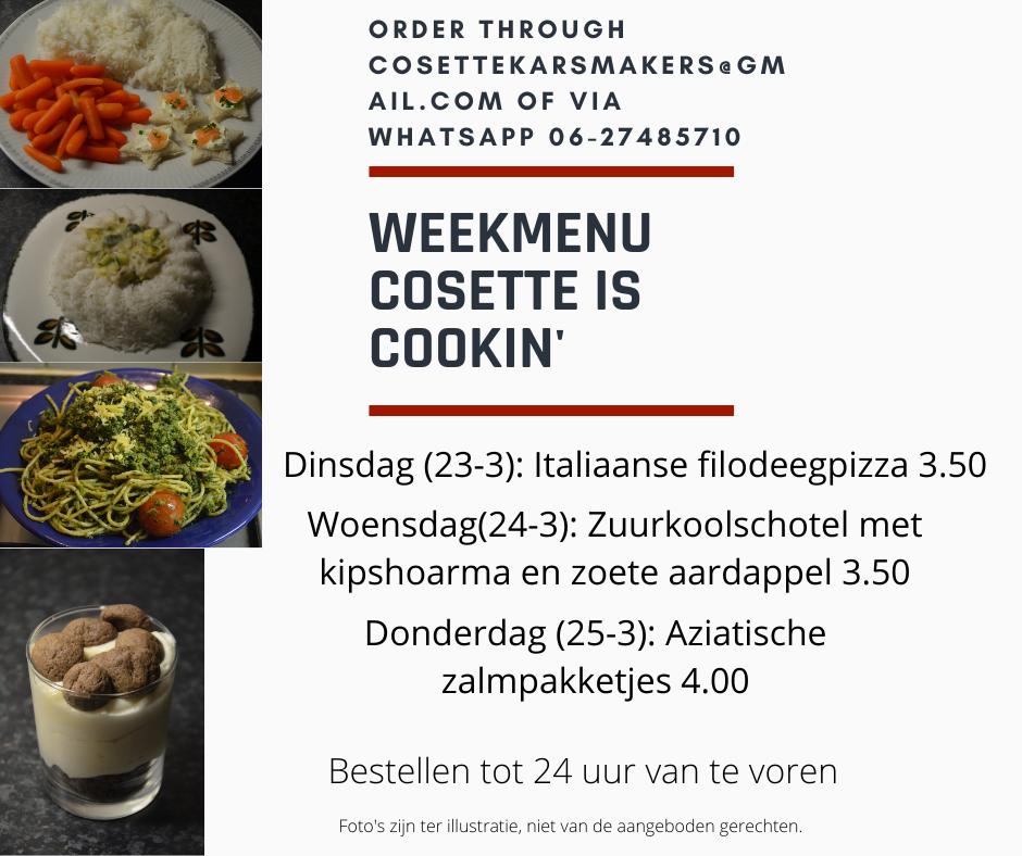 The menu for week 12