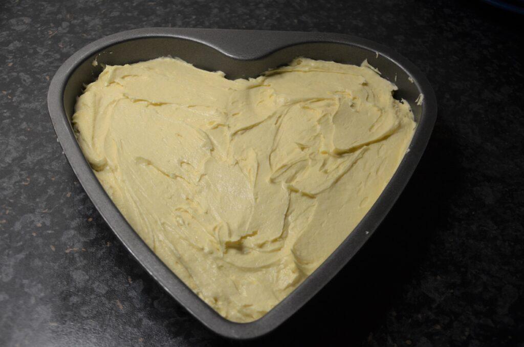 Cake before baking