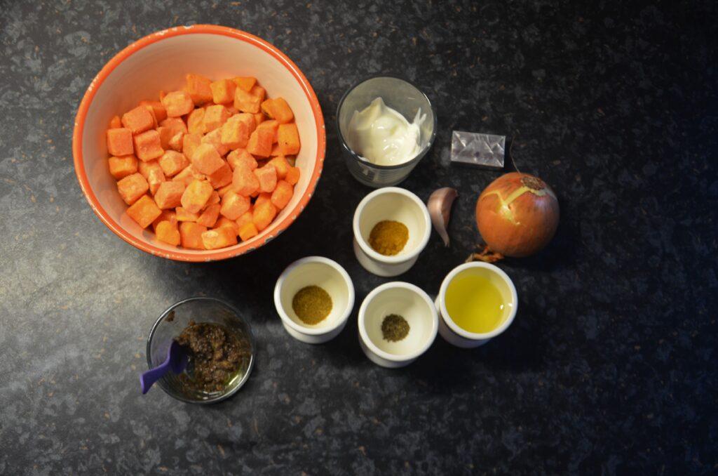 Ingredients soup