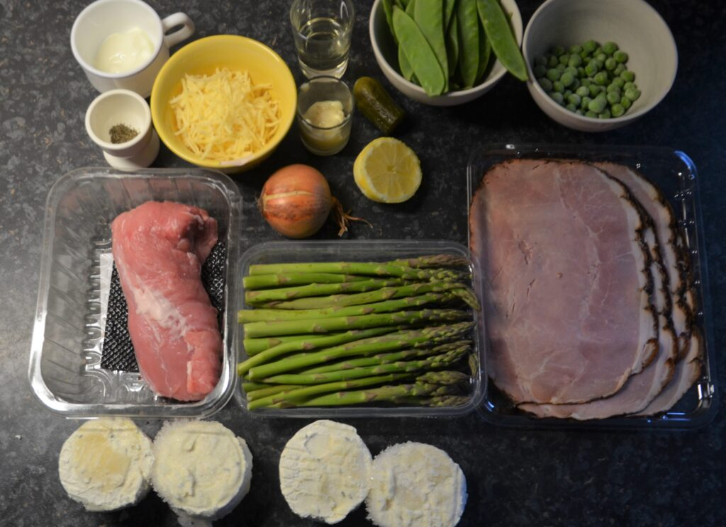 Ingredients for the gratins