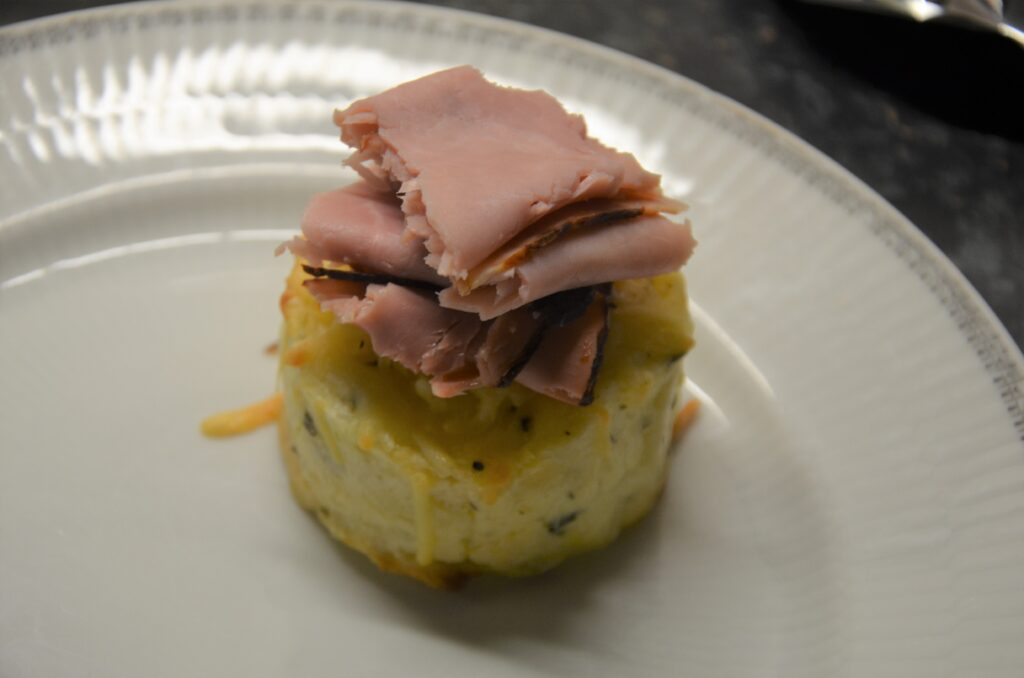 Gratins with country ham