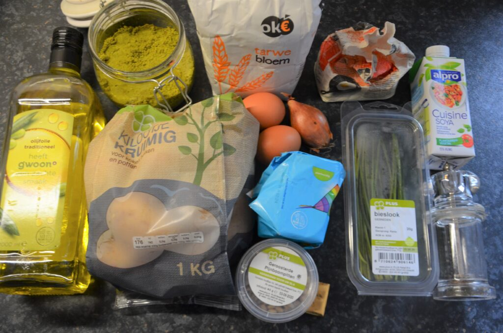 Ingredients for Gnocchi with pistachios