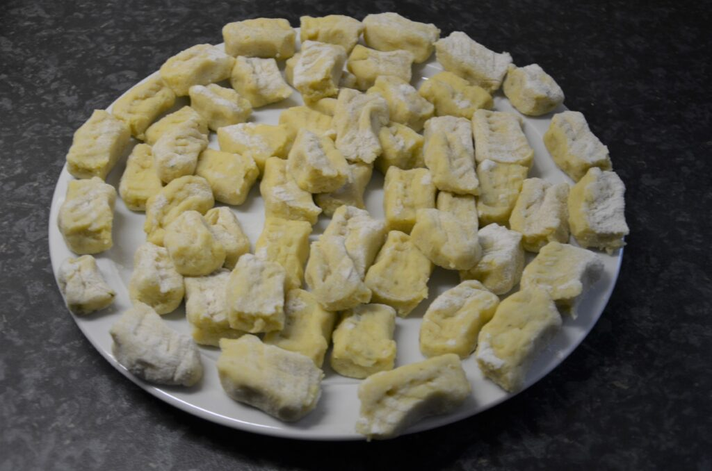 Gnocchi before cooking