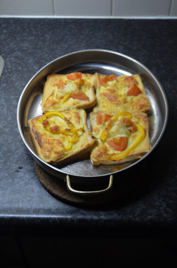 Bread Pizza, just out of the oven